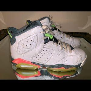 Air Jordan 6 Retro White Ghost Green Sneakers